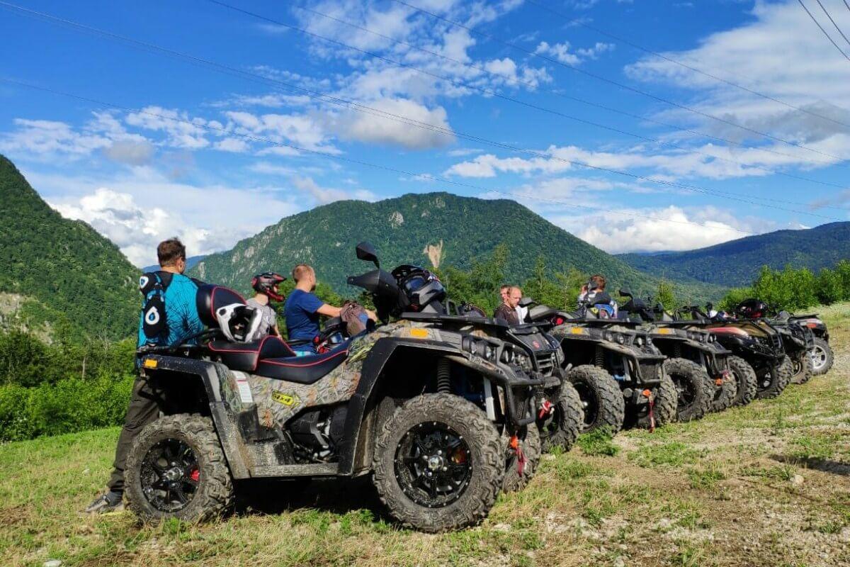 Экскурсия из Адлера на квадроциклах по горам